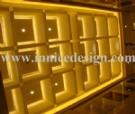 Luminescent Stone Lighting Box on the Ceiling