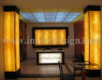 Translucent Stone Wall Decoration,bar top and column
