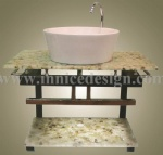 Innice River Pebble Stone Counter Top