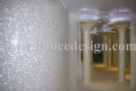 Shell mosaic indoor decoration application