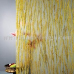 Resin panel with yellow paddy rice inside